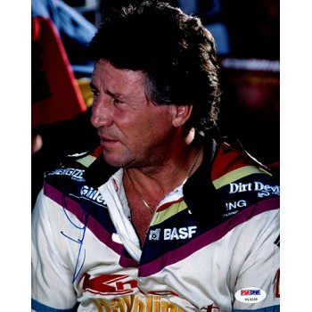 Mario Andretti Signed 8x10 Matte Indy Racing Photo PSA/DNA Authenticated