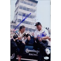 Mario Andretti & A.J. Foyt Signed Racing 8x12 Glossy Photo JSA Authenticated