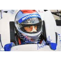 Michael Andretti Indy Car Racer Signed 12x18 Glossy Photo JSA Authenticated