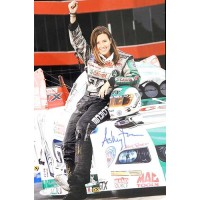 Ashley Force Funny Car Drag Racer Signed 12x18 Glossy Photo JSA Authenticated