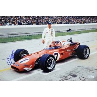 A.J. Foyt Indy Car Racer Signed 12x18 Glossy Photo JSA Authenticated