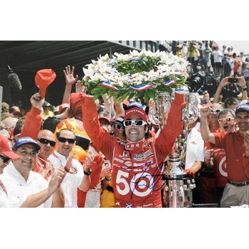 Dario Franchitti Indy Car Racer Signed 12x18 Glossy Photo JSA Authenticated