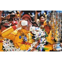 Ryan Hunter-Reay Indy Car Racer Signed 12x18 Glossy Photo JSA Authenticated