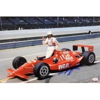 Arie Luyendyk Indy Car Racer Signed 12x18 Glossy Photo JSA Authenticated