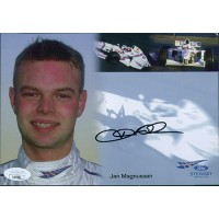 Jan Magnussen F1 Racer Signed 5.75x8.25 Promo Stock Photo JSA Authenticated