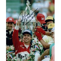 Rick Mears Indy Racer Signed 8x10 Matte Photo Beckett Authenticated BAS