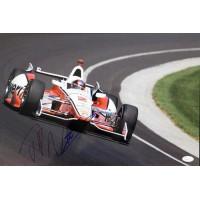Juan Pablo Montoya Indy Car Racer Signed 12x18 Glossy Photo JSA Authenticated
