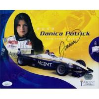 Danica Patrick CART Racer Signed 8x10 Promo Cardstock Photo JSA Authenticated