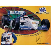 Bobby Rahal CART Racer Signed 8.5x11 Promo Cardstock Photo JSA Authenticated