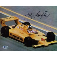 Johnny Rutherford Indy Racer Signed 8x10 Matte Photo Beckett Authenticated BAS