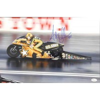 Angelle Sampey Motorcycle Racer Signed 12x18 Glossy Photo JSA Authenticated