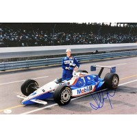 Paul Tracy Indy Car Racer Signed 12x18 Glossy Photo JSA Authenticated
