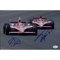 Dan Wheldon & Scott Dixon Signed Racing 8x12 Glossy Photo JSA Authenticated