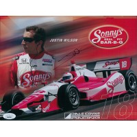 Justin Wilson Indy Car Racer Signed 8.5x11 Cardstock Photo JSA Authenticated