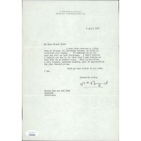Richard Byrd Polar Explorer Signed Typed Letter Stationery JSA Authenticated