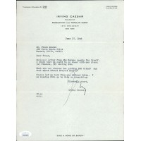 Irving Caesar Publisher Signed Typed Letter Personal Stationery JSA Authenticated