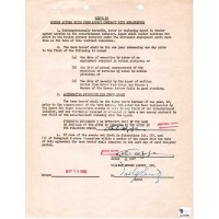 Al Capp Signed Typed Contract May 23, 1950 William Morris Agency SAG GAI Rare
