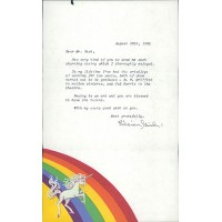 Lillian Gish Signed Typed Letter Personal Stationary JSA Authenticated