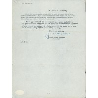 J. Edgar Hoover Signed Typed Reply Letter JSA Authenticated