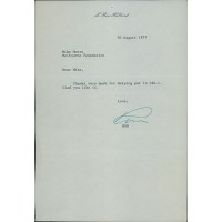 L. Ron Hubbard Scientology Founder Signed Typed Letter JSA Authenticated