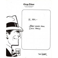 Dick Locher Signed Dick Tracy 8.5x11 Chicago Tribune Letterhead JSA Authenticated