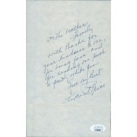 Vincent Price Actor Signed 5.5x8.5 Hand Written Note Letter JSA Authenticated