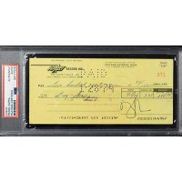 Frank Zappa Musician Signed Cancelled Check PSA Authenticated Slabbed