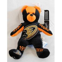 """Anaheim Ducks The Matic 9"""" Bear Foco Forever Collectibles 1999 Dedication"""