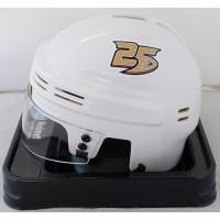 Anaheim Ducks 25th Anniversary White NHL Hockey Replica Mini Helmet