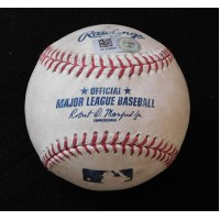 David Freese Angels Kyle Kendrick Rockies Game Used Baseball MLB Authenticated