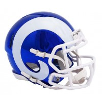 Los Angeles Rams Riddell Speed Chrome Alternate Mini Helmet