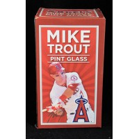 Mike Trout Los Angeles Angels Stadium Give Away SGA Pint Glass 5/21/13