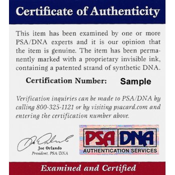 Claudia Schiffer Model Signed 3x5 Index Card PSA/DNA Authenticated