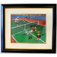 Andre Agassi Tennis Signed Warner Brothers Volley Folly Animation Cel LE /500