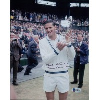 Roy Emerson Tennis Star Signed 8x10 Matte Photo Beckett Authenticated