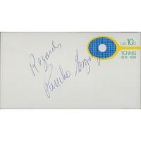 Pancho Gonzalez Tennis Star Signed Cachet Envelope JSA Authenticated