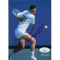Ivan Lendl Tennis Star Signed 4x6 Photo Postcard JSA Authenticated