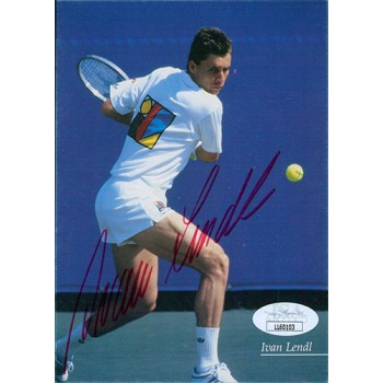 Ivan Lendl Tennis Star Signed 4x6 Photo Postcard JSA Authenticated