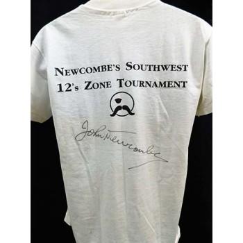 John Newcombe Tennis Signed Top Gun Tennis Ranch T-Shirt JSA Authenticated