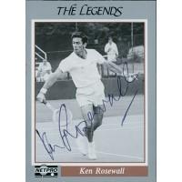 Ken Rosewall Tennis Star Signed 1991 NetPro Legends #27 Card JSA Authenticated