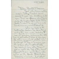 Bill Tilden Tennis Star Signed Hand Written Letter JSA Authenticated