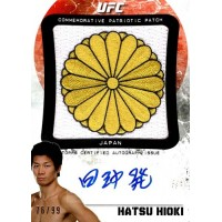 Hatsu Hioki UFC Fighter Signed 2012 Topps Bloodlines Patch Card #APP-HH 76/99