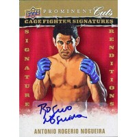 Antonio Rogerio Nogueira MMA Fighter Signed 2009 UD Prominent Cuts Card #CFSR-AN