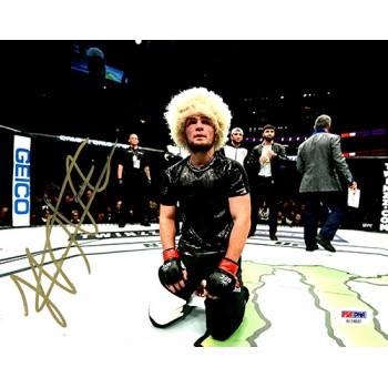 Khabib Nurmagomedov UFC MMA Signed 8x10 Glossy Photo PSA/DNA Authenticated