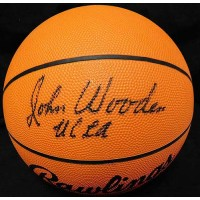John Wooden Signed Rawlings RR1 Officially Licensed NCAA Basketball JSA #Z51286