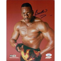 Booker T Signed WCW/NWO Wrestling 8x10 Glossy Photo JSA Authenticated
