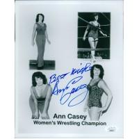 Ann Casey NWA Wrestler 8x10 Glossy Photo JSA Authenticated