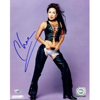 Chae Nitro Girl Signed WCW Wrestling 8x10 Glossy Photo Fanatics Authenticated