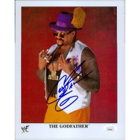 The Godfather Signed WWF/WWE Wrestling 8x10 Glossy Photo JSA Authenticated