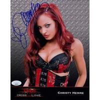 Christy Hemme TNA Wrestler 8x10 Glossy Photo JSA Authenticated